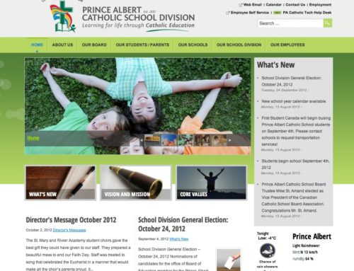 Prince Albert Catholic School Division Website Design and Launch