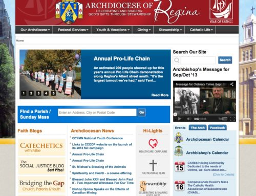 Relaunch & Redesign of the Archdiocese of Regina Website