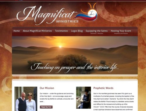 Design and Launch of Magnificat Ministries Website