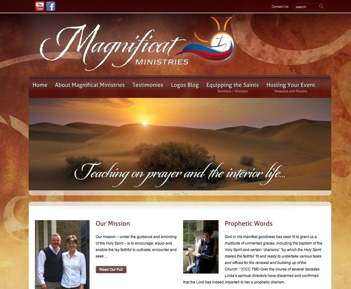 Magnificat Ministries Frontpage, Design