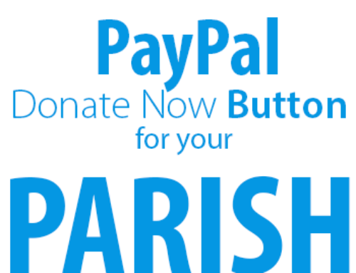 Paypal Donate Button to your Parish Website in Five Steps